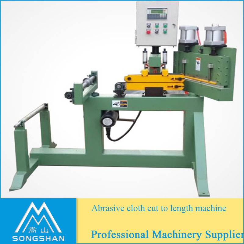 abrasive cloth cut to length machine to make sanidng belts