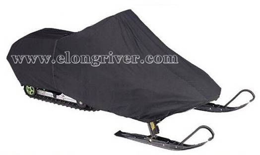 Black Polyester Waterproof Snowmobile Cover