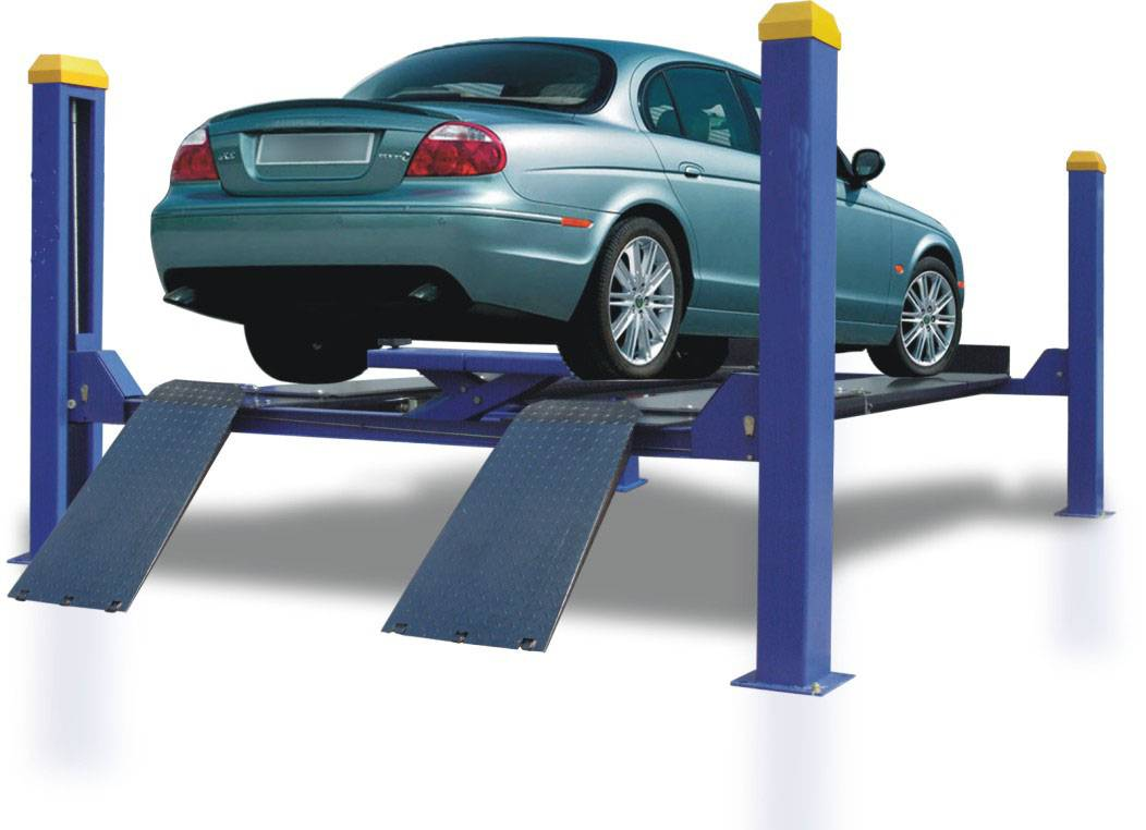Auto four post lift for car parking