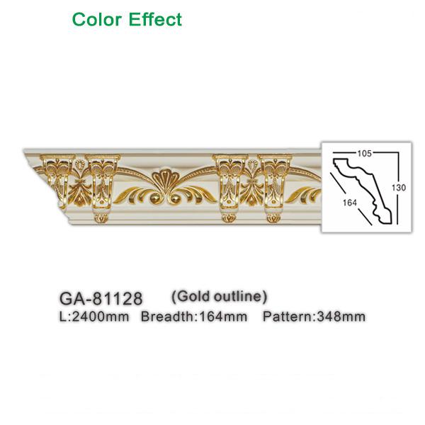New interior decorative material polyurethane/PU elements color customized