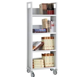 Four layers v-shaped book cart RCA-4S-LIB01