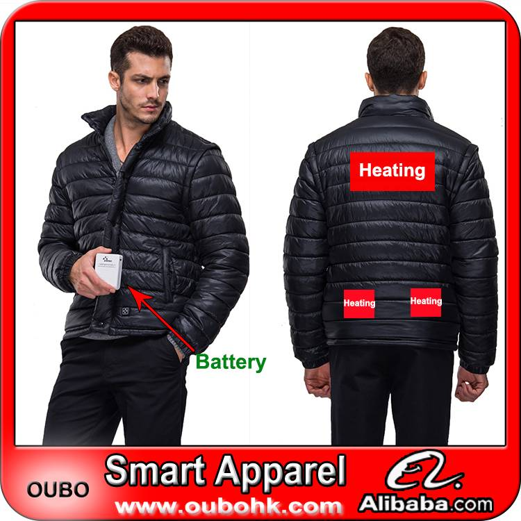 High quality Down jacket with battery system electric heating clothing warm OUBOHK