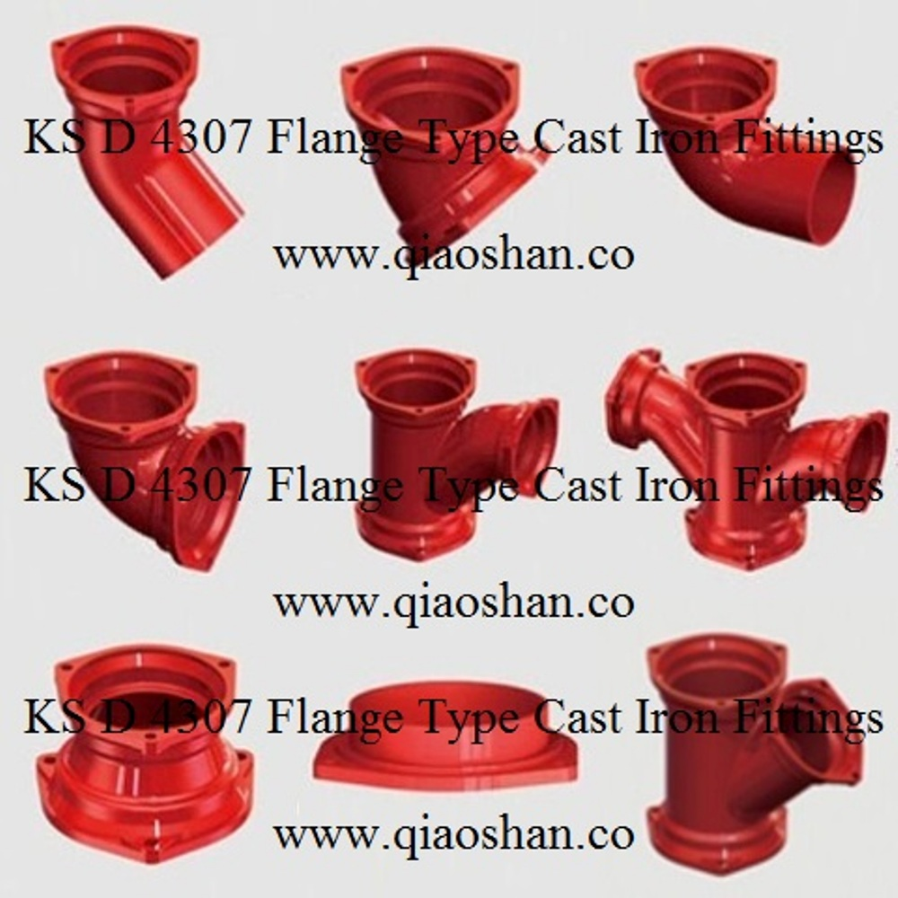 KSD 4307 Flange Type Cast Iron Fittings