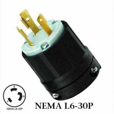 wj 8331 nema l6 30p twist lock wiring plug 30a 250vac. Black Bedroom Furniture Sets. Home Design Ideas