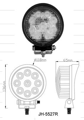 "27w led work light 4.5"" work lamp for trucks,atv,forklift ip68 make in china"