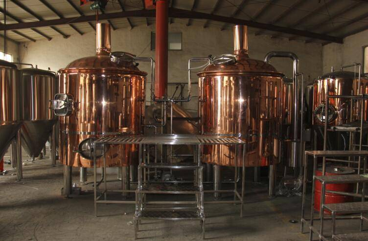 steam heating or direct fire heating beer brewery system red copper beer brewing equipment
