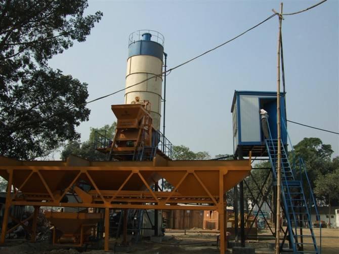 HZS25 cement/concrete mixing plant