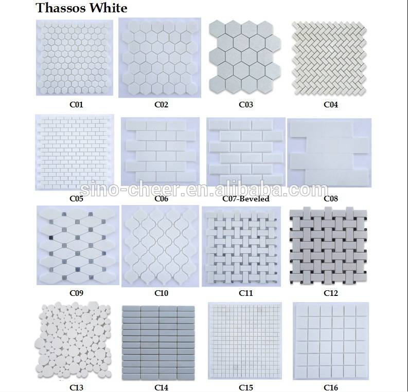various style marble mosaic