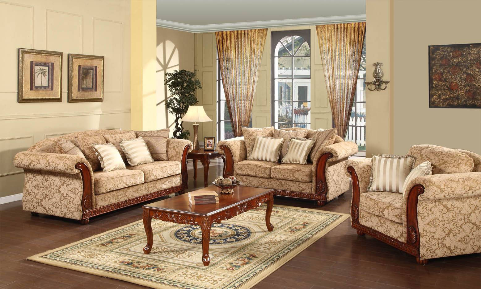 America style classic sofa for living room