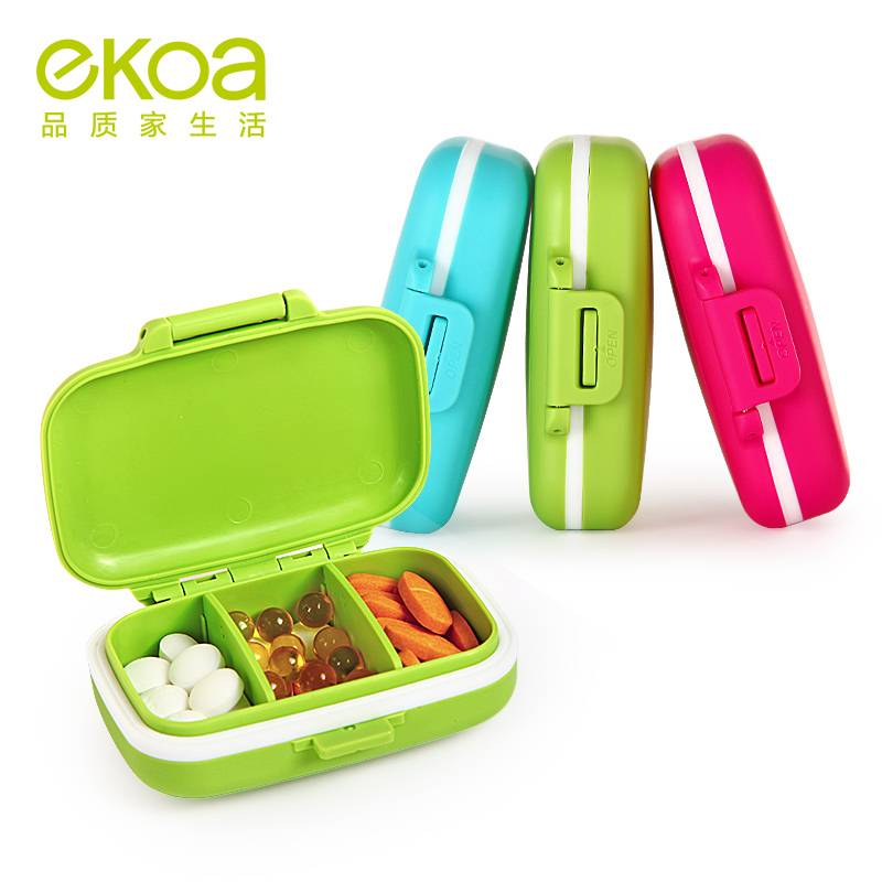 Ekoa Ek-835 Portable Mini Kit Medicine Boxes Daily PCS Seal Multi-Function Medicine Box
