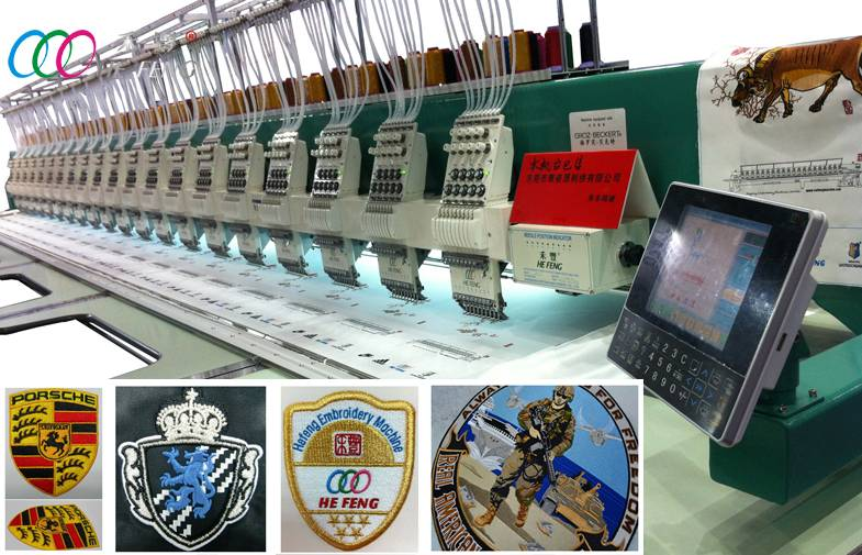 20 Heads High Speed Flat Embroidery Machine for garment