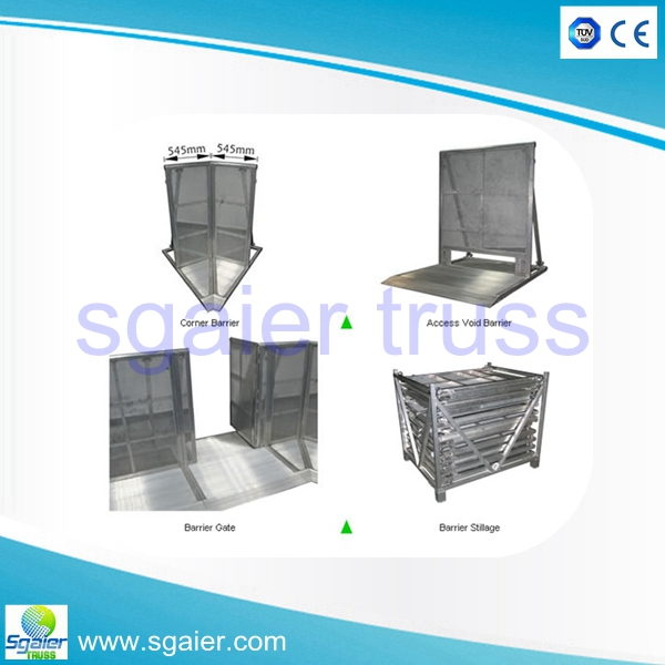 Hot sale TUV approved high quality retractable Aluminum crowd control barriers with door