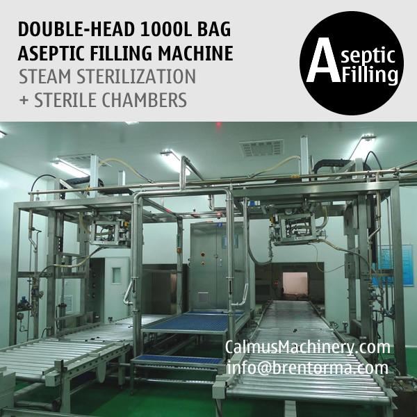 Double-head 1000L Bag Aseptic Filling Equipment IBC Bag Aseptic Filling Machine