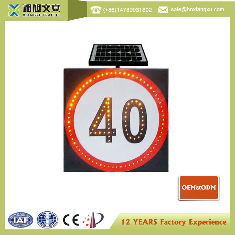 Aluminium Solar Powered Reflective Road Traffic Sign Board