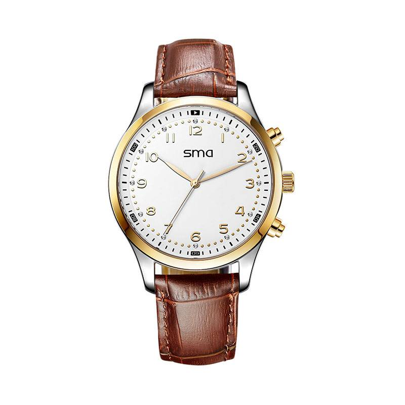 SMA Italian Leather Strap Wrist Watch Smart Watches
