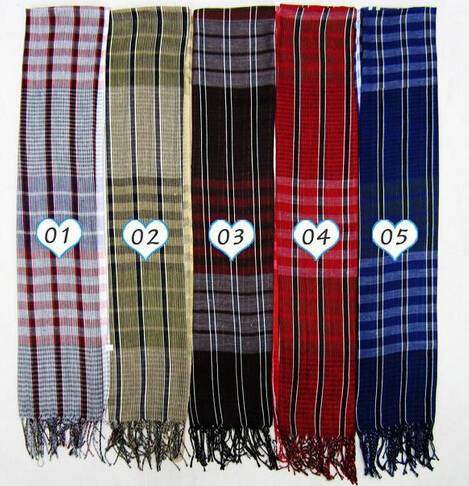 All little lattice woven scarf for men 100%polyester many colurs PG940