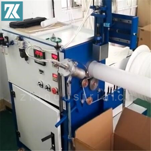 Hot air welding spiraling machine for support spiral cold shirink tube