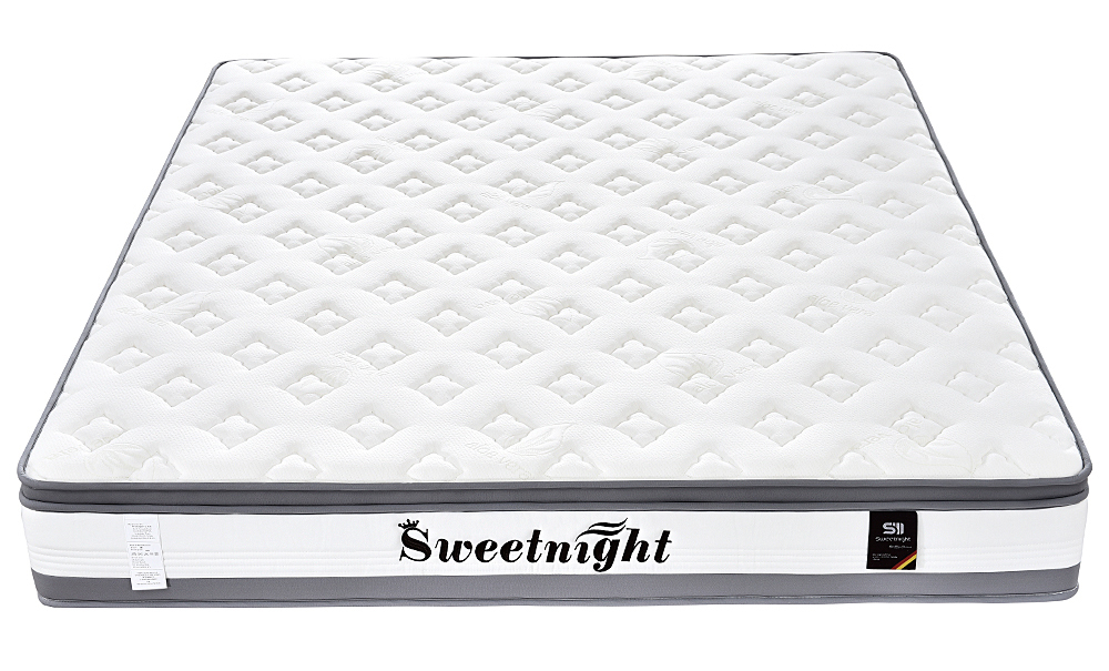 Hotel luxury Euro-top organic mattress, queen king size pocket spring mattress in box