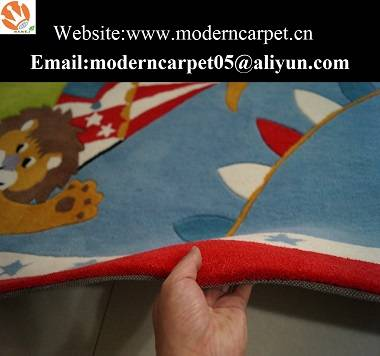 Hand tufted cartoon design kids room carpet