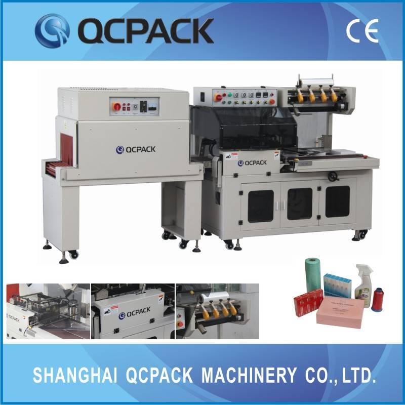 BTA-450+BM-500 Fully-auto L bar shrink wrapping machine