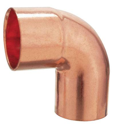 J9005 Copper fitting 90 street degree elbow for plumbing pipe