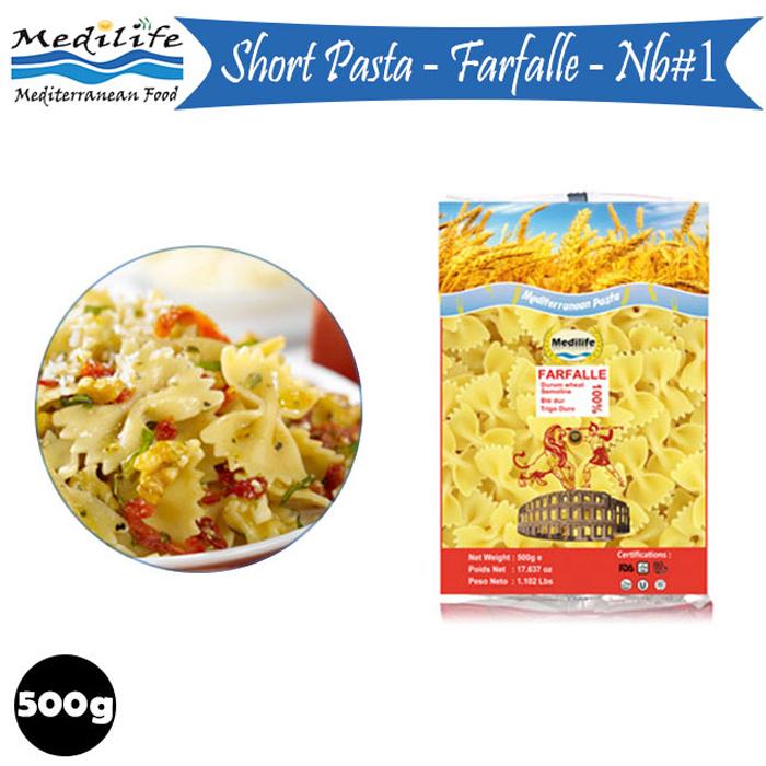 Short Pasta Farfalle 500g