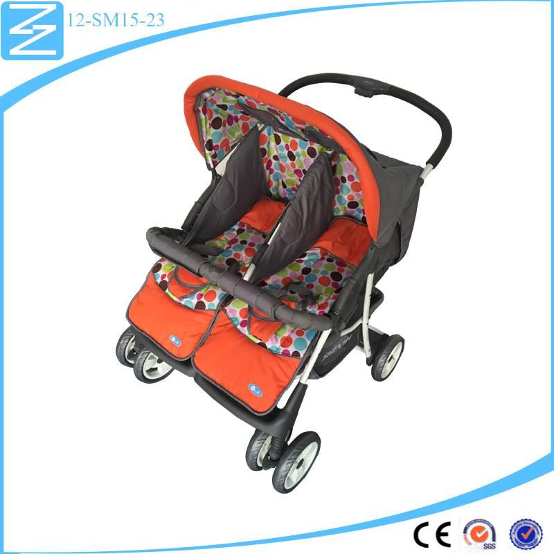 2016 hot selling universal wheel double stroller folding stroller