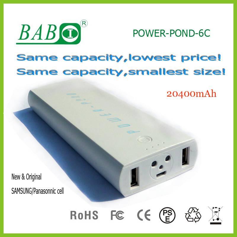 Discount price new portable power bank 14000mah