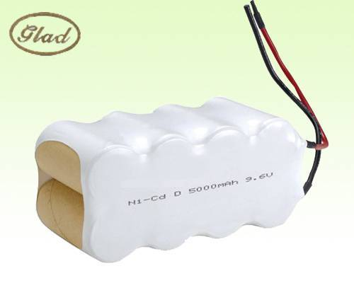 ni-cd d 5000mah rechargeable battery 9.6V for sweeper