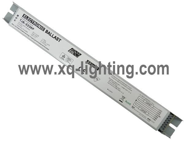 T8 2x36w electronic ballast for waterproof lighting fixture