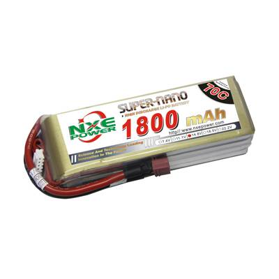 NXE1800mAh-70C-14.8V Softcase RC Helicopter Battery