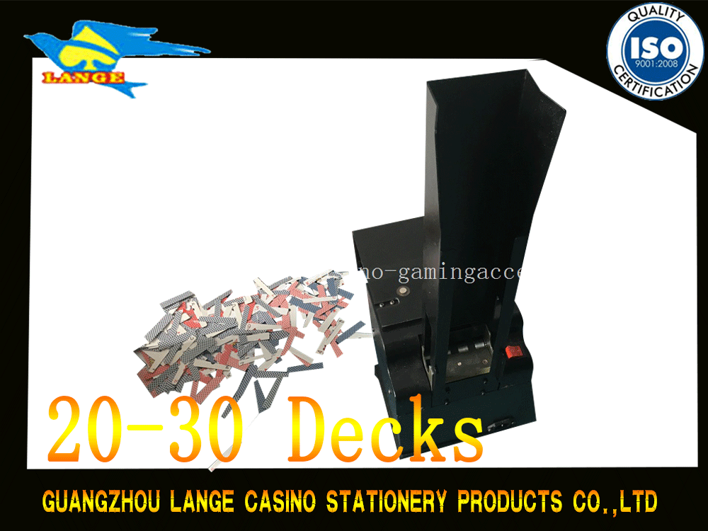 Black Automatic Playing Cards Shredder , Casino Machine Disposal Poker Kneader