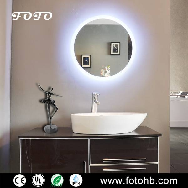 Round LED Backlit Mirror for Luxury Hotel Bathroom