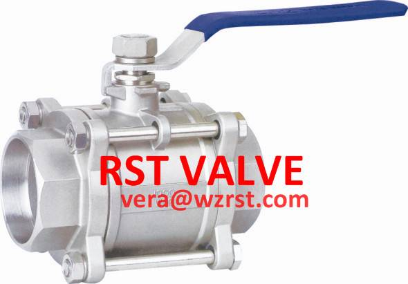 NPT/BSPT/BSPP 3PC TYPE Threaded Ball Valve,WCB/CF8/CF8M, 1000WOG