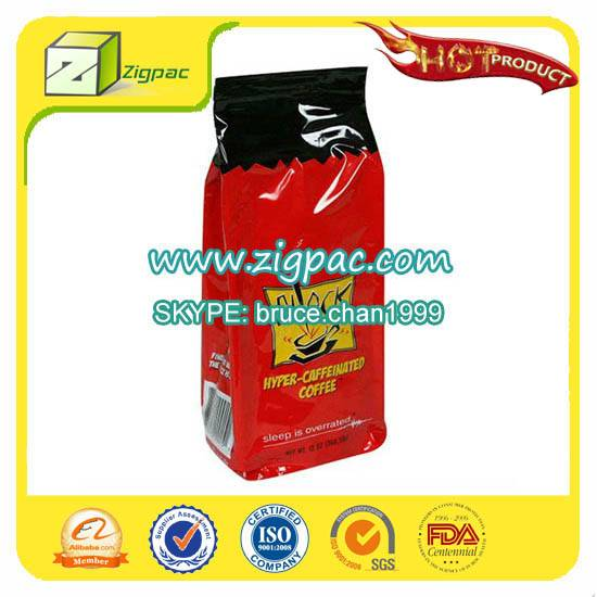 Economical VIP grade and special certificate approved biodegradable side guesset coffee bag