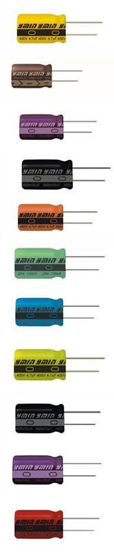 6.3V~500V, 0.47uf~15000uF Radial miniature aluminum electrolytic capacitor 4000hours~12000hours