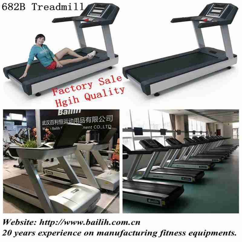 Bailih Factory Commercial gym Treadmill 682 Digital screen In door Running Machine