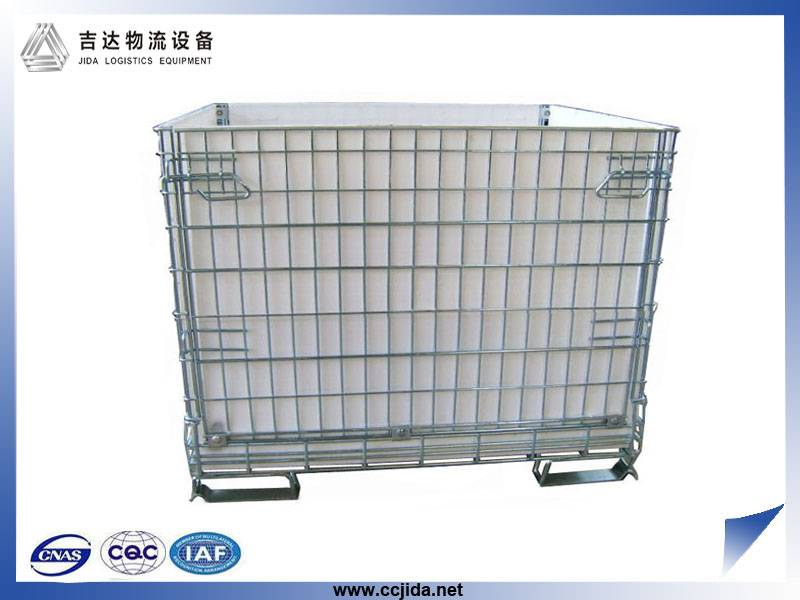 China wholesale cheap price stackable industrial wire mesh storage cage container