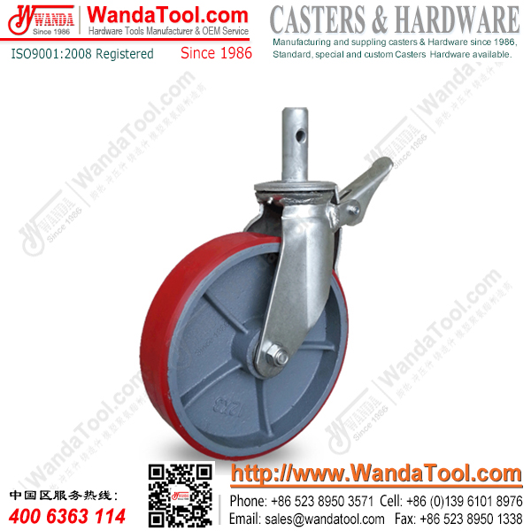 12 inch heavy duty polyurethane stem scaffold casters
