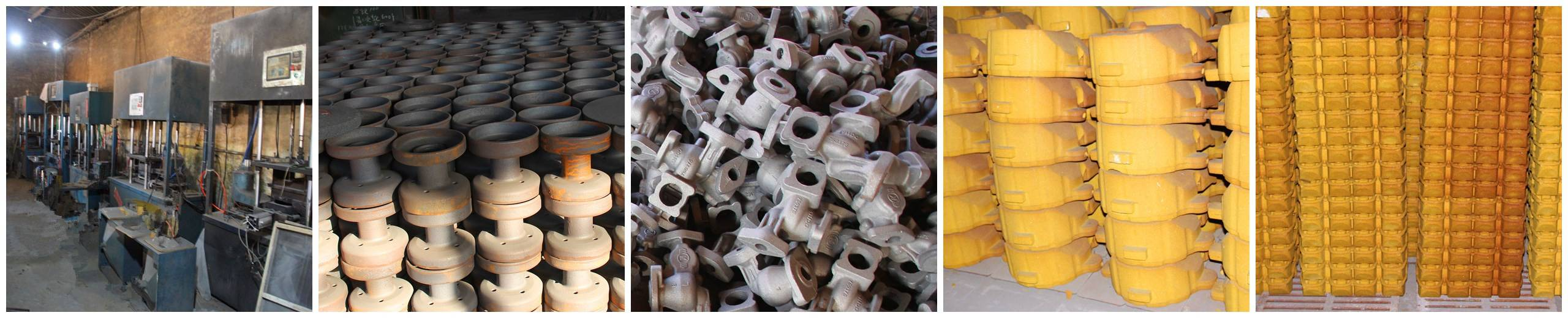 Coated sand casting