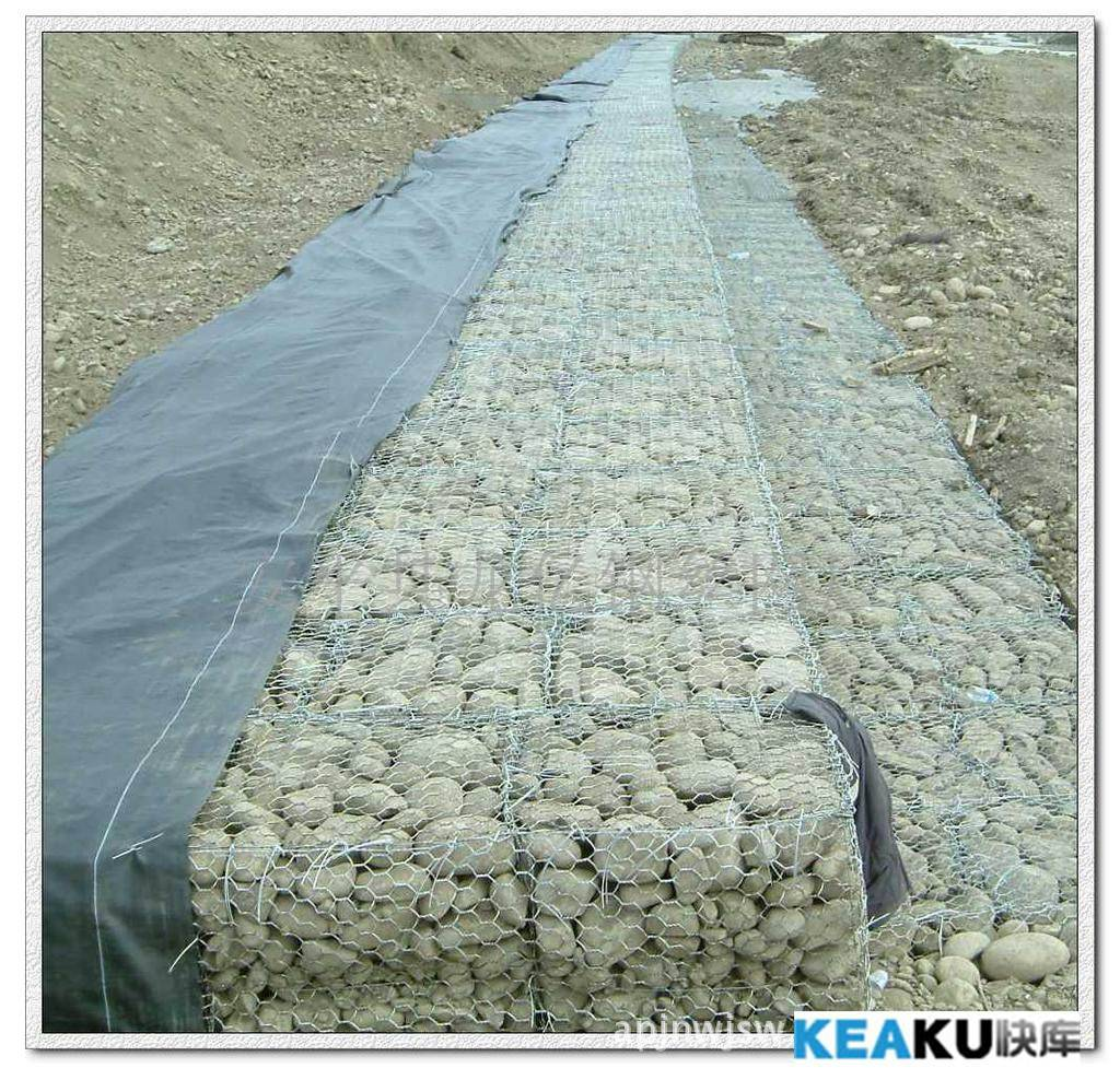 Galvanized wire gabion