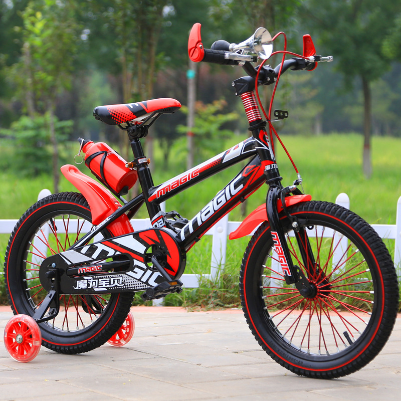 Hot sale purple 14 inch kid bicycle/Wholesales cheap price four-wheel bicycle/Factory OEM colourful