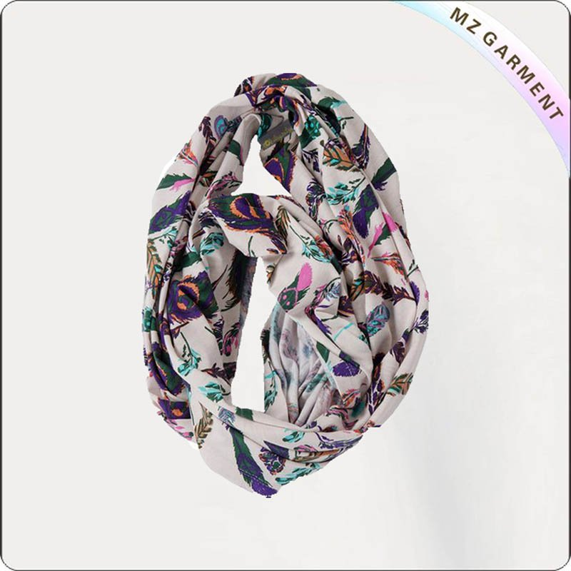 Girls Twig & Leaf Pattern Scarf