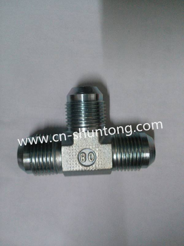 hydraulic fitting/ hydraulic hose adaptor/Jic Male 74 Deg Tee (AJ)