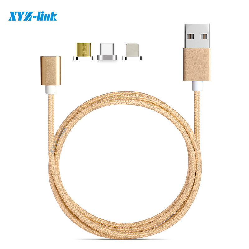 3 in one cable Magnetic Cable for iphone and android and usb-c