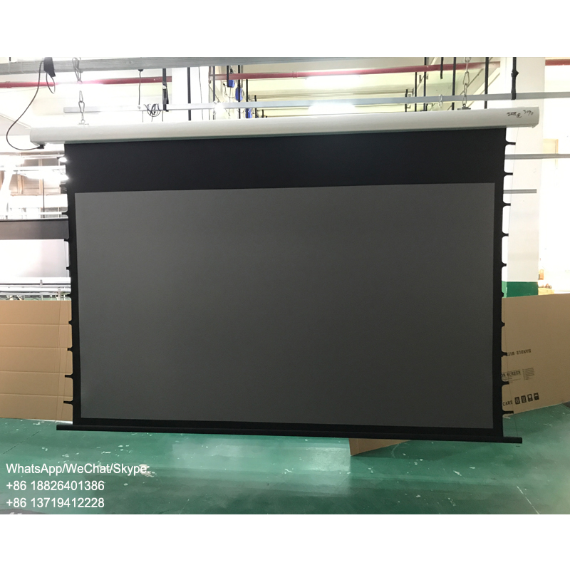 100 inch tab tension motorized ALR projector screen black diamond screen