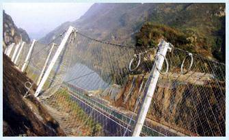 Passive slope fence