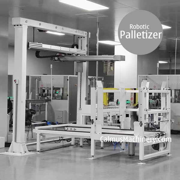 Carton Palletizing Equipment Pallet Stacker Robotic Case Palletizer