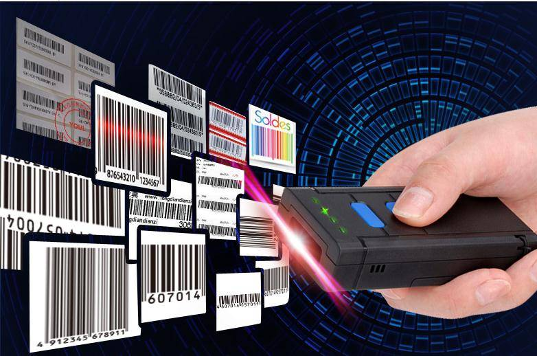 Mini Bluetooth Barcode Scanner CT20 for APPLE iOS iPad iPhone Android mobile phone tablets Windows P