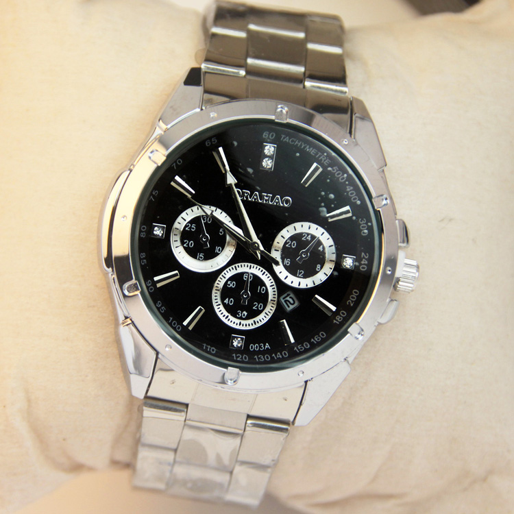 GD13 Fashion unique brief business style watches mens waterproof wristwatches stainless steel strap
